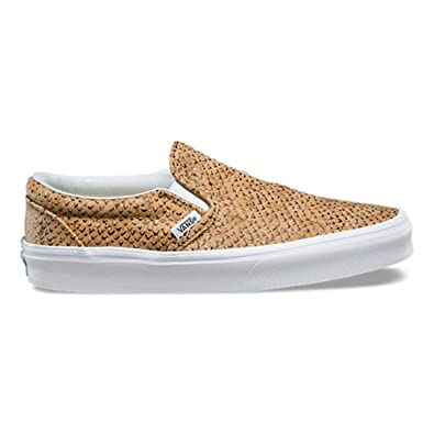 cb3f694549 Image Unavailable. Image not available for. Color  Vans Classic Slip On  Embossed Cork Natural Mens Fasion Sneaker
