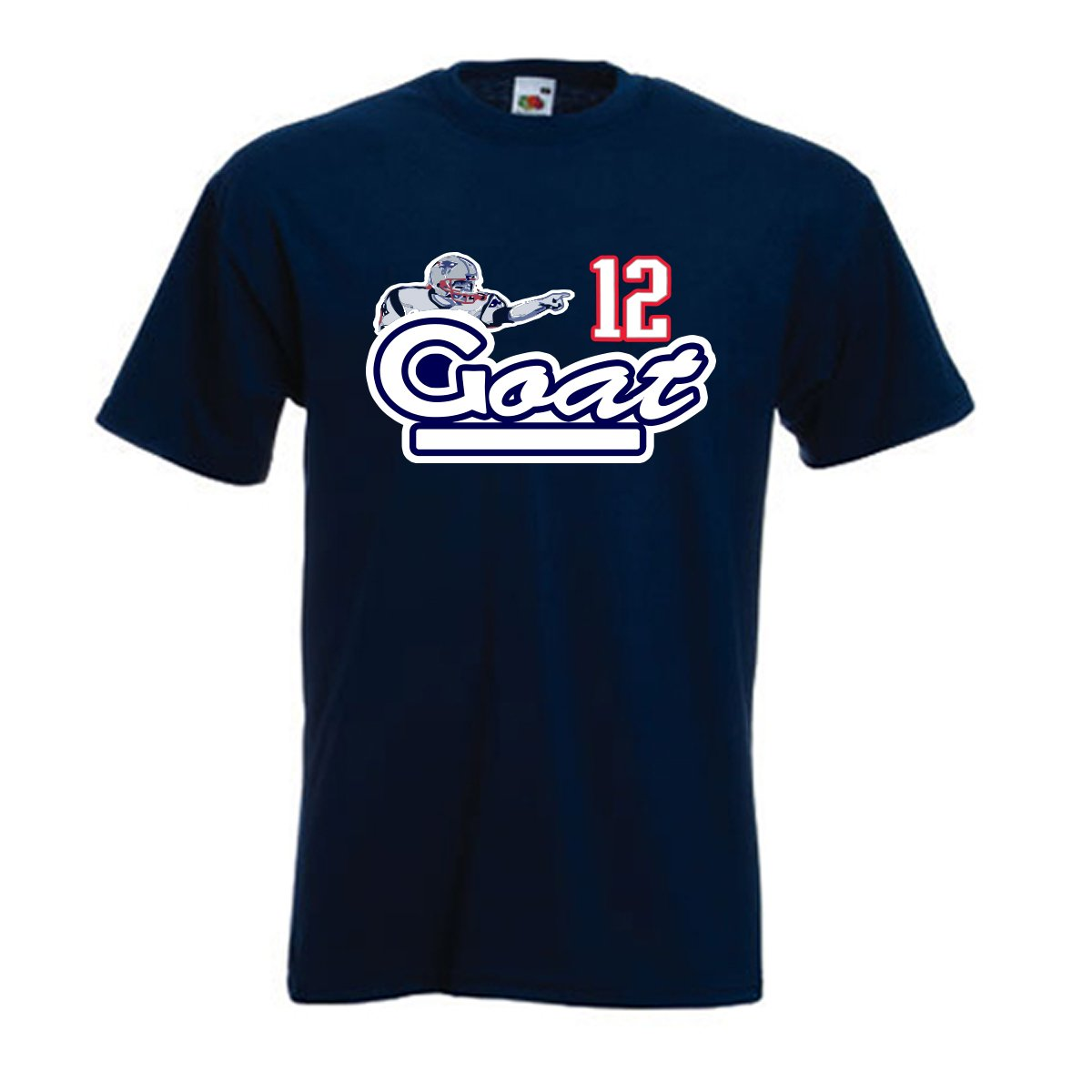 Silo Shirts NAVY Tom Brady New England GOAT T-Shirt 98745
