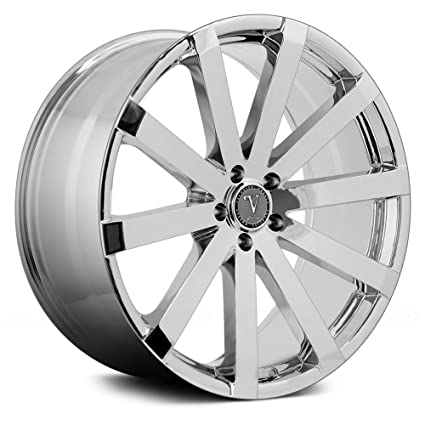 22 Inch Rim And Tire Package >> Amazon Com 22 Inch Velocity Vw12 Chrome Wheels Tire