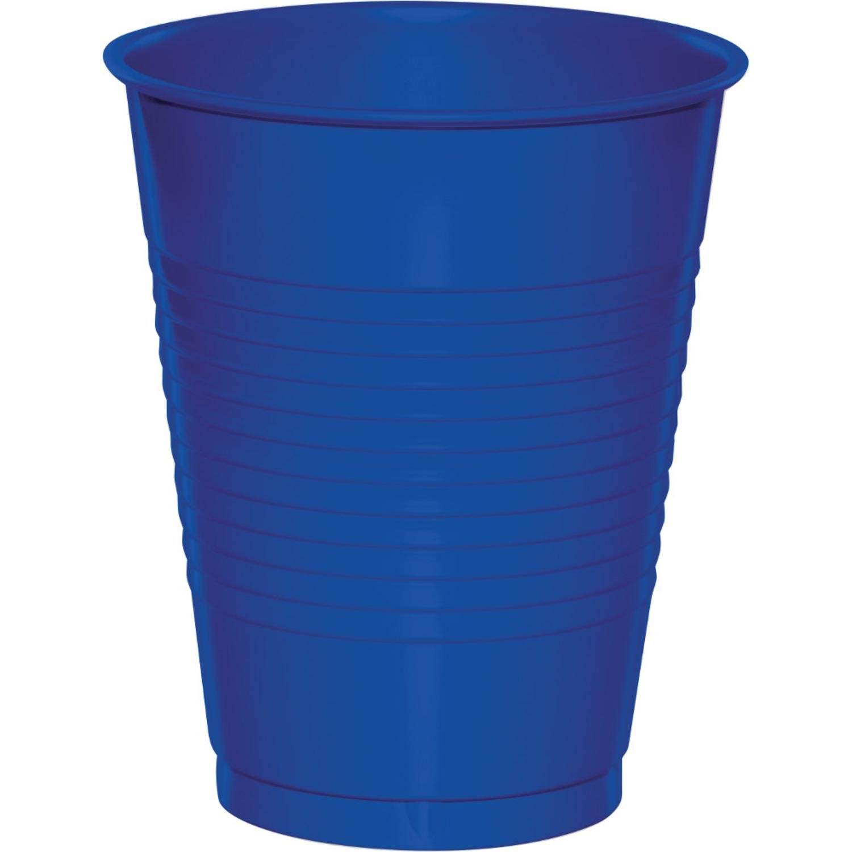 Club Pack of 600 Cobalt Blue Premium Disposable Plastic Drinking Party Tumbler Cups 16 oz.