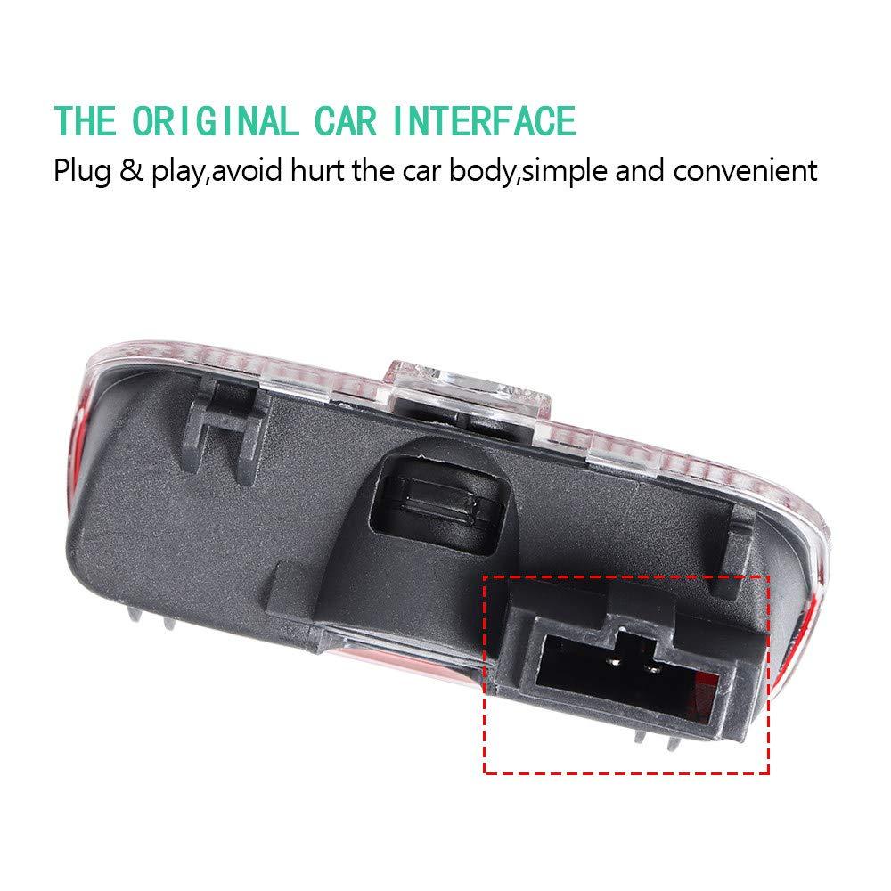 AniFM 2pcs portiera Auto Benvenuto LED proiettore Laser Logo Luce luci Fantasma//Ombra per Porsche Cayenne Boxster Cayman Macan 911 S3 S4 Carrera4 Accessori