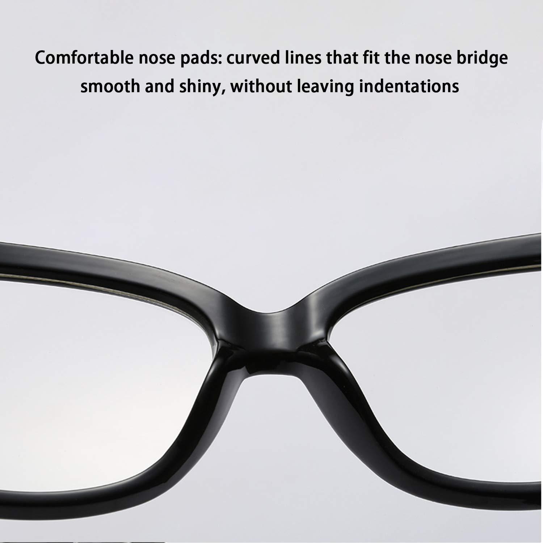 HEIFEN Gafas de Tendencia Retro Masculina Femenina Marco de Gafas /ópticas Gafas de Venta Libre Marco con Lentes Transparentes adecuadas para