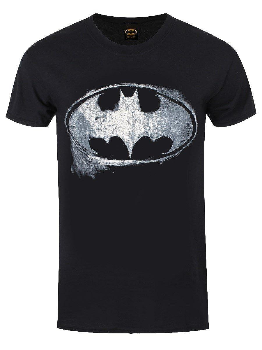 Cid Batman - Logo Mono Distressed - T-Shirt - Homme Super Natural  PE13477TSBP 666fb95be40
