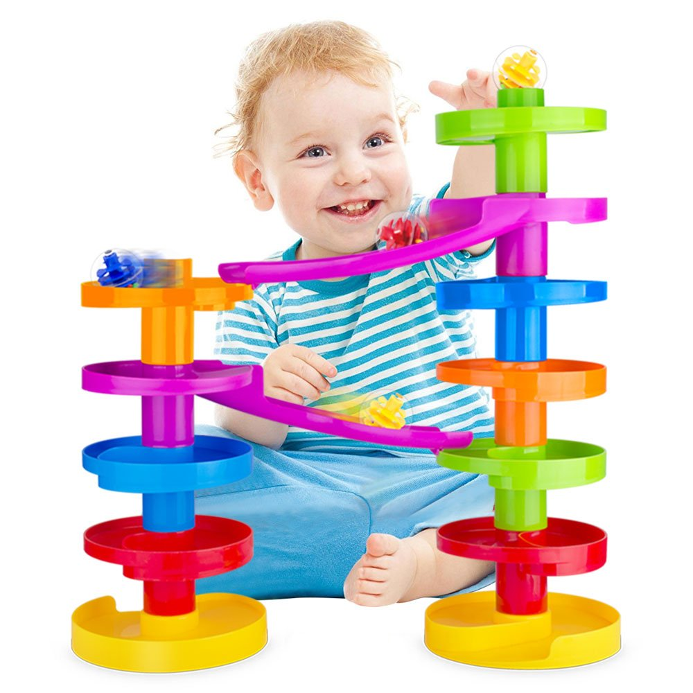 Ball Drop Advanced with Bridge. Educational Family Fun for Baby and Toddler. www Limited