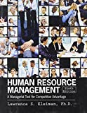 Human Resource Management : A Managerial Tool for Competitive Advantage, KLEIMAN  LAWRENCE, 1465210148