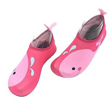 VORCOOL Zapatos de Agua para Niñas Zapatos de Natación Descalzos Calcetines de Aqua de Secado Rápido