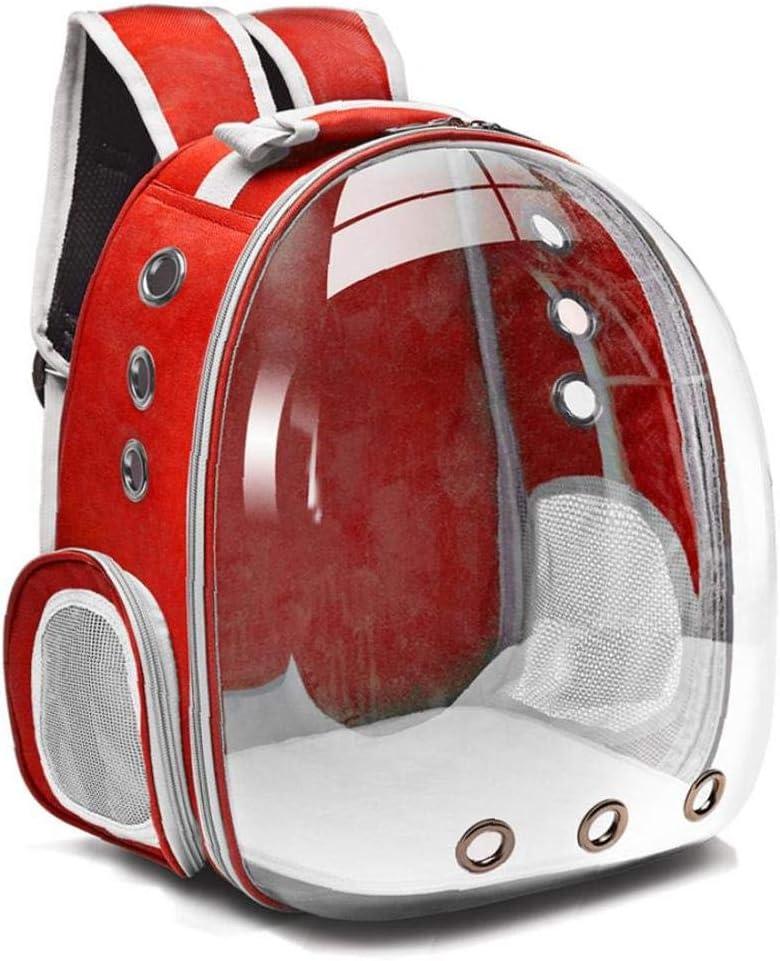 ZYCX123 Doble Hombro port/átil Transpirable Pet Carrier Mochila para Gatos Perros Rojo Recorrido al Aire Libre