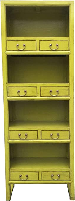 Estantería vintage de madera maciza de Akuma verde 167 cm de ...