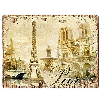 Amazon.com: Paris Chic Sign Rustic Shabby Vintage style Retro ...