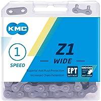 KMC Unisex's EPT Z1 brede ketting, donker zilver