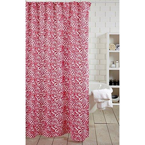 Be-You-tiful Home Zebra Shower Curtain, 72 x 72, Hot Pink