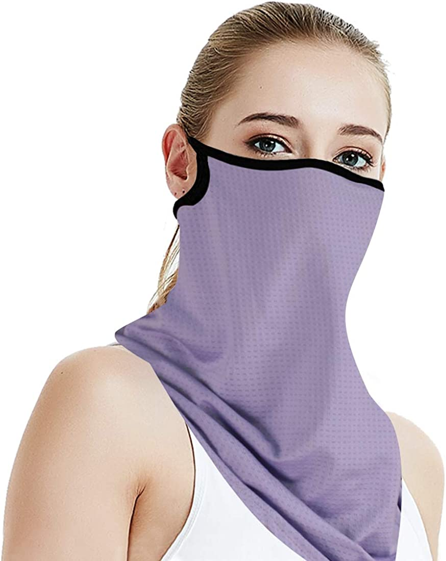 Reach Star Balaclava Neck Gaiter Women Summer UV Protection Cooling Breathable Full Face Cover for Outdoor Running