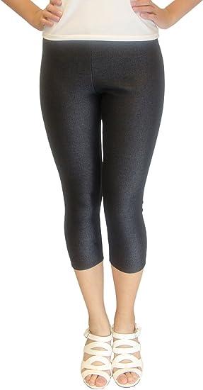 Vivian/'s Fashions Extra Long Leggings Junior//Junior Plus Sizes Knit Denim