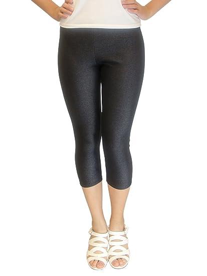 8a970efc5dd56 Vivian s Fashions Capri Leggings - Knit Denim (Junior and Junior ...
