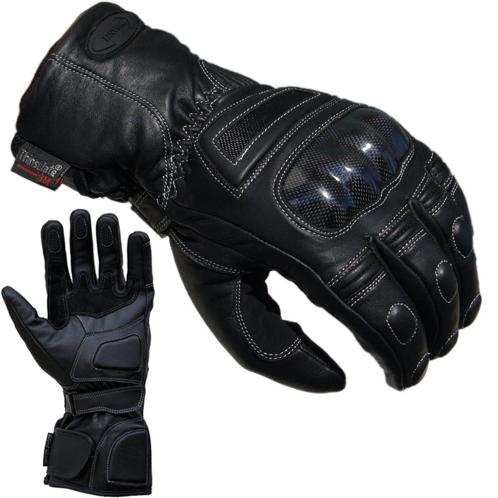 PROANTI Motorradhandschuhe Regen Winter Leder Motorrad Handschuhe Gr/ö/ßen S-XXL