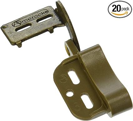 Overlay Marathon Burnished Brass Hinge pack of 10 Amerock cm2606bb-XCP10 1//2in 13 mm