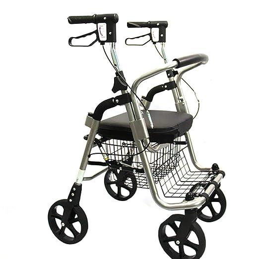 Carro de empuje plegable de cuatro ruedas, andador para personas ...