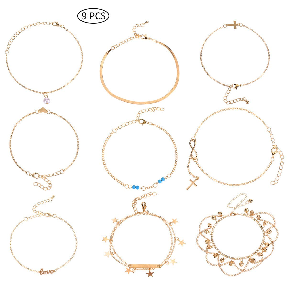 Anklets Jewelry & Watches Fashion Summer Metal Chain Fish Scale Anklet Beach Barefoot Chain Jewelry Gifts Goods Of Every Description Are Available