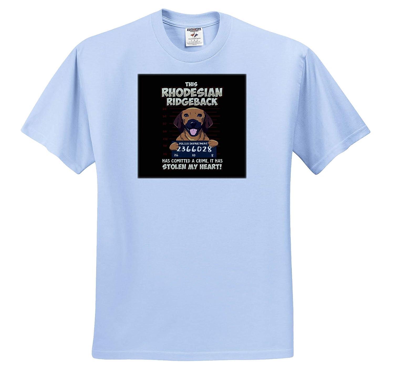 Adult T-Shirt XL ts/_317129 3dRose Sven Herkenrath Dog Rhodesian Ridgeback Dog has Stolen My Heart