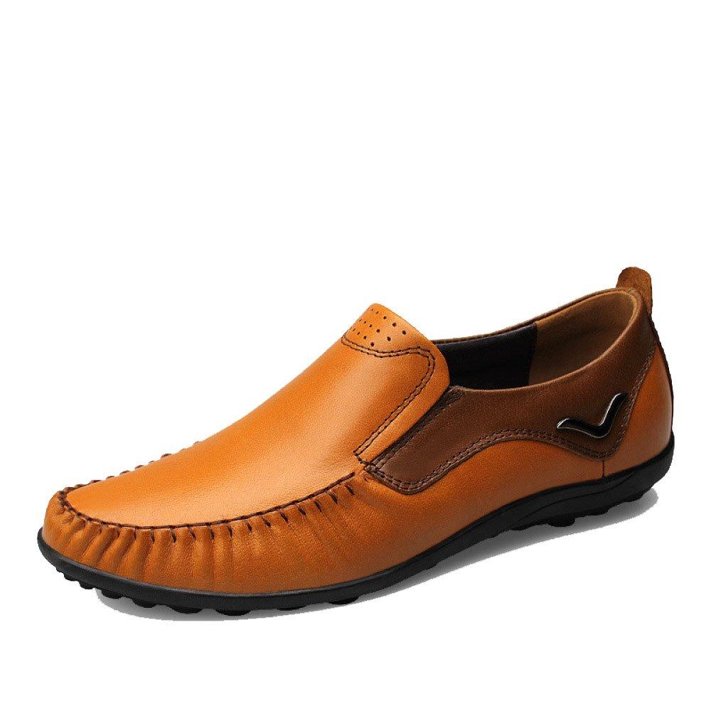 Hombres Estaciones Negocios Casual Moda Juventud Conducir Zapatos De Cuero 42 EU|Brown