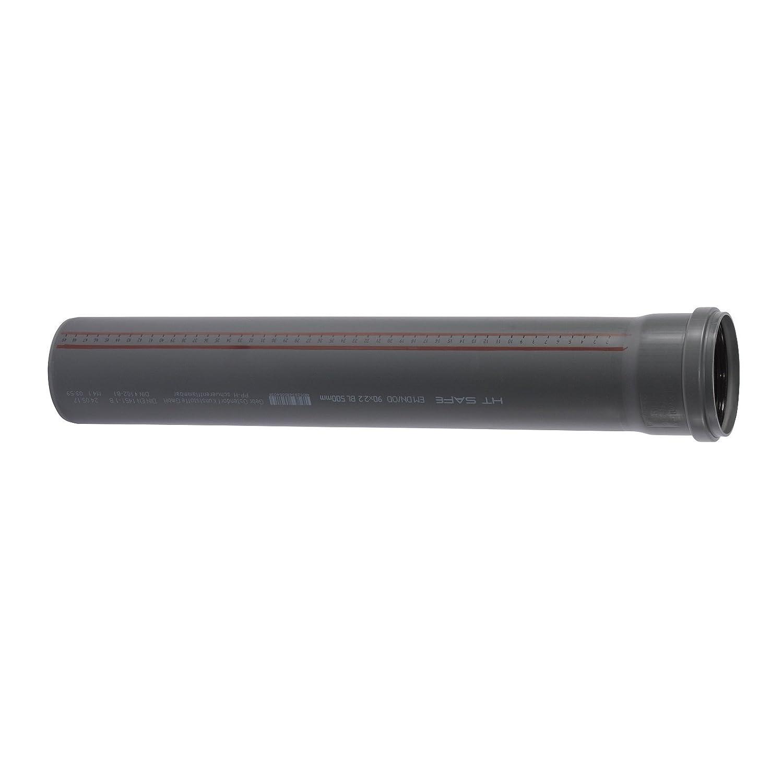 Ostendorf HTsafe HT-Rohr mit Muffe DN 90 mm 1500 mm