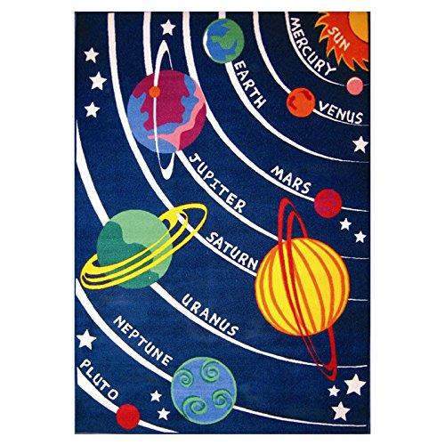 Fun Rugs Fun Time Solar System Classroom Area Rug 5'3'' X 7'6'' by Fun Rugs
