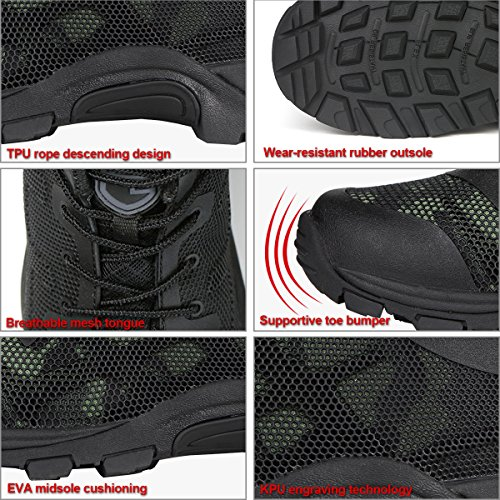 Camouflage KPU Lightweight Sneaker Running FREE Sole Boots SOLDIER Shoes Breathable Mesh Soft Engraving Men Summer Air Tactical Athletic 1xg8TxU