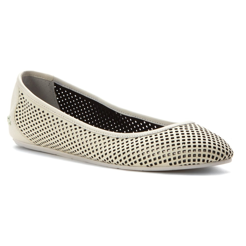 Lacoste Women's Cessole 216 1 Ballet Flat B01CYXTN76 5.5 B(M) US|Off White