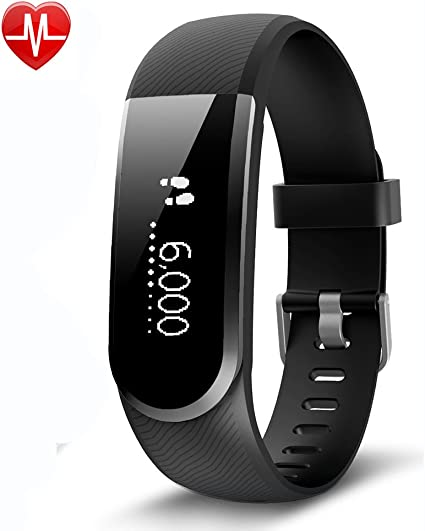 Sports Fitness Tracker,with Heart Rate Monitor Smart Sports Fitness Bracelet,Step Pedometer,Calorie Counter,Sleep Monitor Waterproof Bracelet,Children Women and Men Available Smart Android iOS Sports