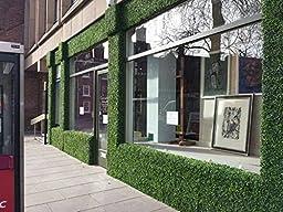 Ranka Artificial Boxwood Greenery Panels - Dark Green 40x40 inches