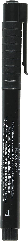 A.W FABER CASTELL USA FC800011T Pitt Artist Pen Fine Bc Black