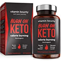 Burn on Keto - Keto Pills with BHB Beta Hydroxybutyrate Exogenous Ketones and Green...