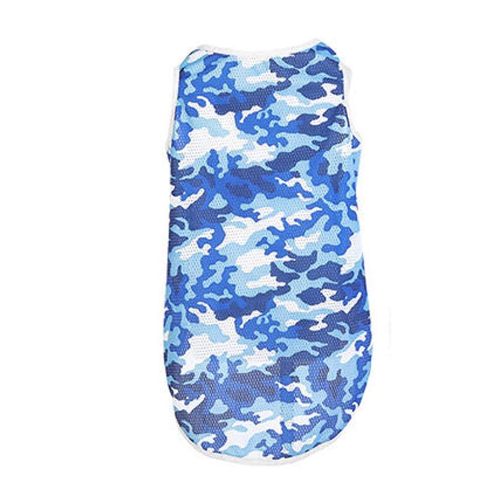bluee XXLLSLMCS Pet Supplies Retriever Dog Clothes Summer Pet Medium Large Dog Clothes TShirt Dog Summer Thin Section Vest Pet Cooling Vest,bluee, Green,(XS7XL ) (color   Green, Size   5XL)