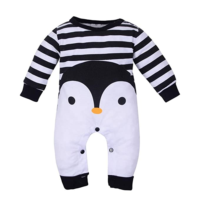 ropa de bebé, Honestyi Bebé recién nacido niña de manga larga estampado de dibujos animados