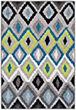 A.S Quality Rugs Large Moroccan Trellis Rugs for Living Room 8x10 Blue Rug For Dining Rooms 8x11 Clearance Rugs Prime