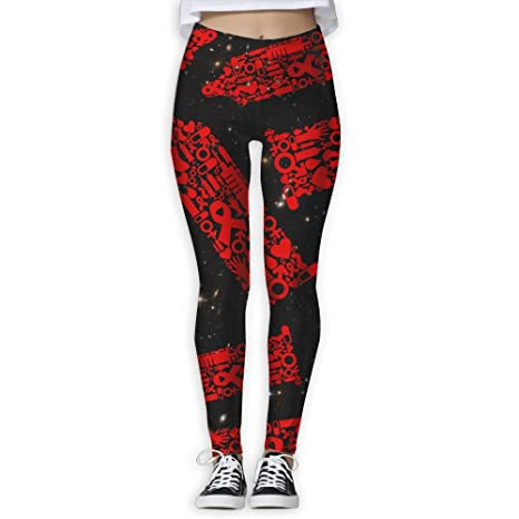 4465102b38138 Condom Creative Lover Women S Workout Running Gym Tights Leggings High  Waist Yoga Pants