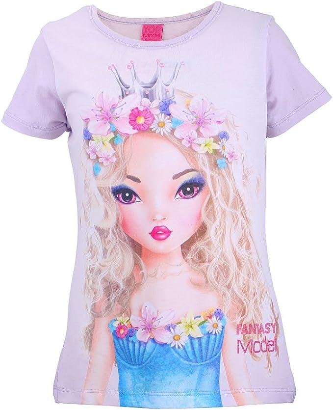 rosa Top Model M/ädchen T-Shirt