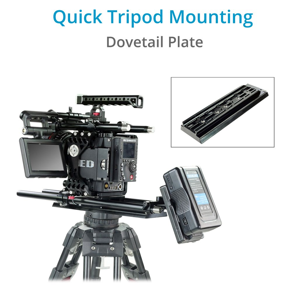 Dovetailed technologies llc - Amazon Com Camtree 19mm 15mm Cnc Aluminum Camera Base Plate With Arri Standard Dovetail Tripod Plate For Dslr Video Camcorder Sony Nikon Canon Bmcc