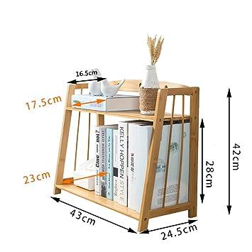 Rart Organizador de escritorio de madera diy,Estante de libro ...