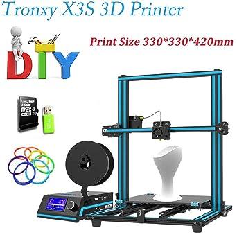 tronxy X3s Impresora 3d montar DIY 3d Kit para impresora metal con ...