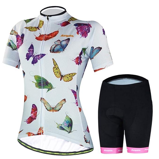 Amazon.com: Las mujeres de bicicleta Jersey Equipo Ciclismo ...