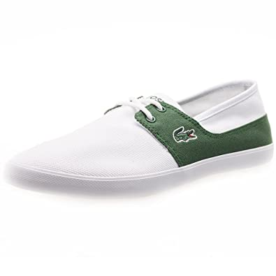 3762056911ea8 Lacoste Mens White Dark Green Marice Lace 116 Trainers  Amazon.co.uk  Shoes    Bags