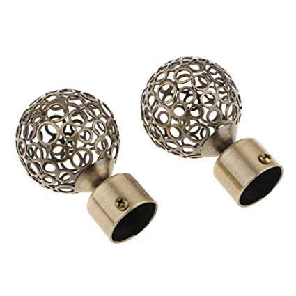 Decorative Curtain Rod Ends.Amazon Com Dovewill 2pcs Durable Iron 28mm Inner Dia