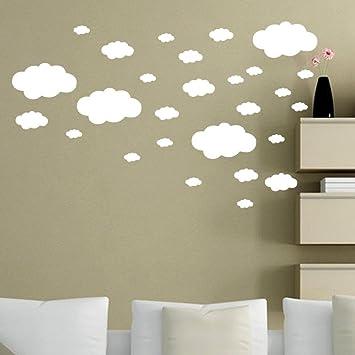 amazon com gocheaper wall stickers diy clouds wall decals