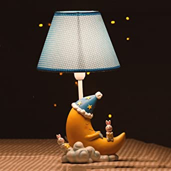 xlhl lámpara de mesa e14 dibujos animados creativos bonitas Luna ...
