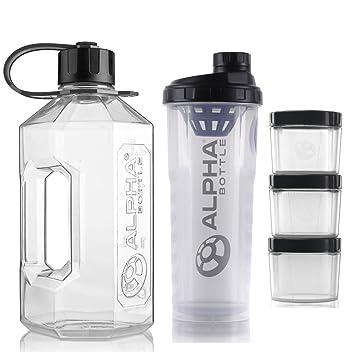 Amazon.com: Alpha Botella 2 litros XXL botella de agua jarra ...