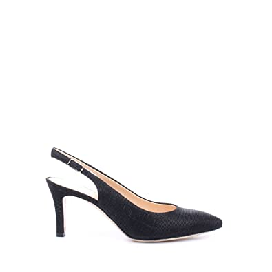 Melluso D075V Sling Back Femme Noir Noir - Chaussures Sandale Femme