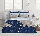 Livingston Home 33671 Novelty 4Pcs Reversible Sheet Twin,Oxford Blue,