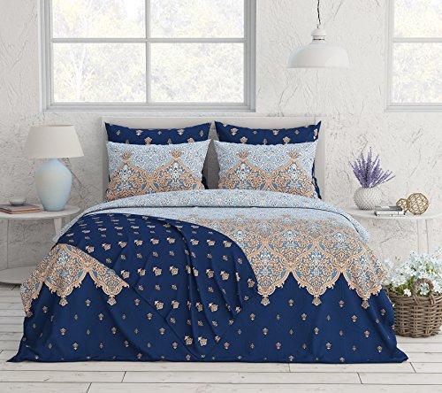 Livingston Home 33674 Novelty 6Pcs Reversible Sheet,King,Oxford Blue, ()