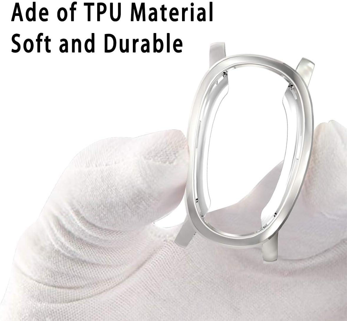 FayYang Coque de protection souple en TPU plaqu/é pour Garmin vivoactive 3 protection d/écran int/égrale et r/ésistante aux rayures Compatible avec la montre intelligente Garmin vivoactive 3